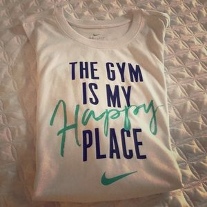 The Gym Is My Happy Place Nike Dri- Fit Top 🎉